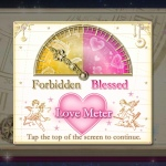Love Meter, with the arrow in the Forbidden section