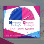 the Love Meter, with the needle far in the Amorous Ending area.